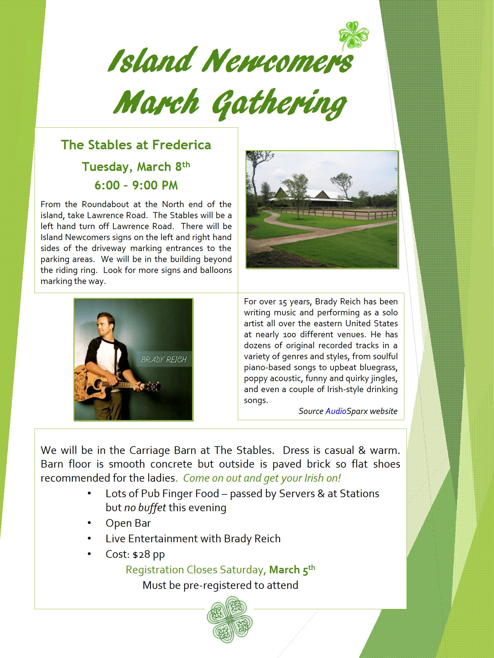 GST - March Gathering Flyer