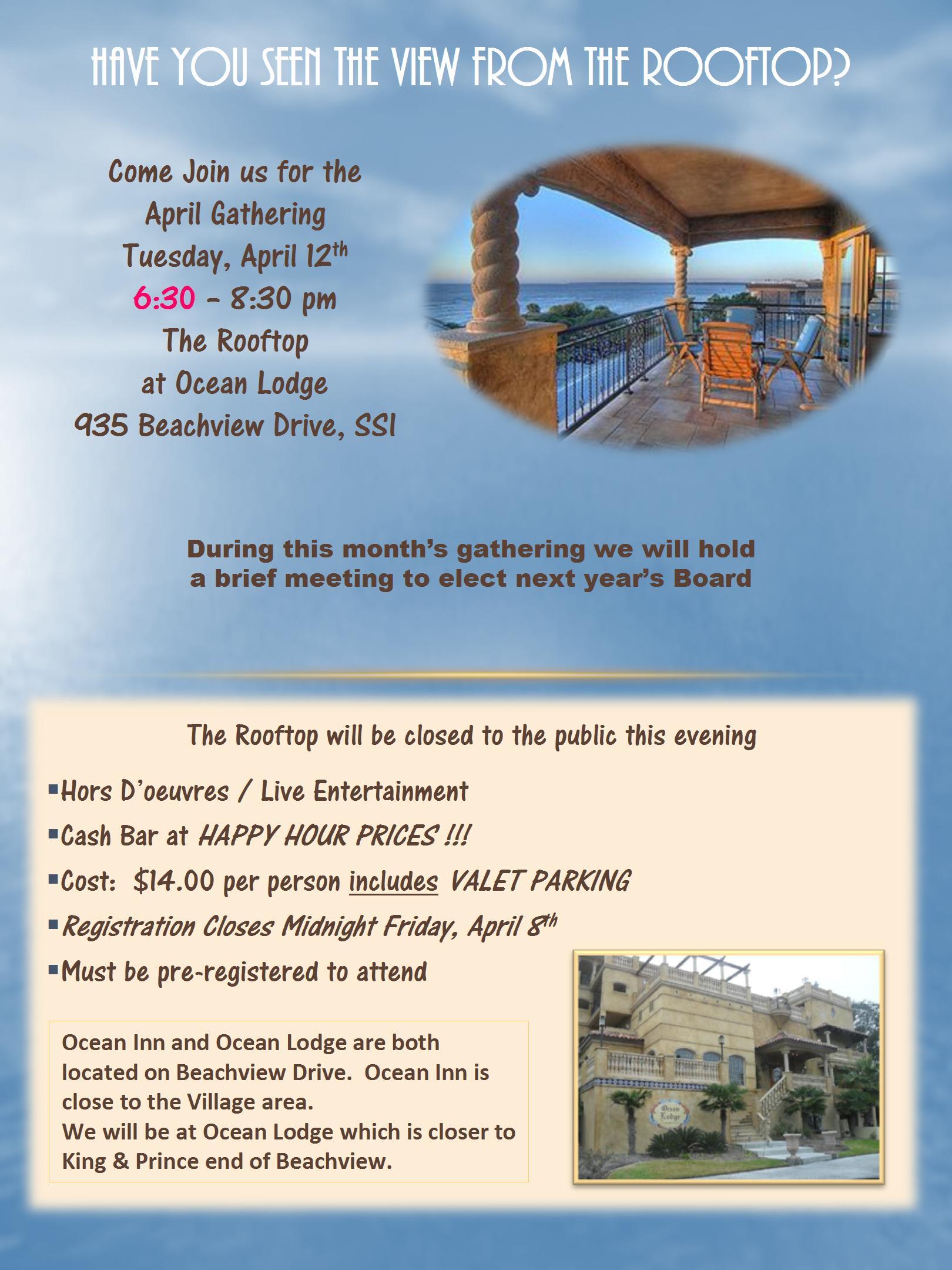 GST - April Gathering Flyer